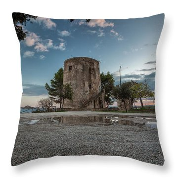 Reflected Tower Throw Pillow