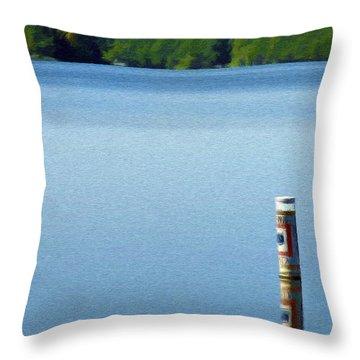 Reflected Warning Throw Pillow by Jeffrey Kolker