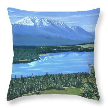 Reflecting Across The Valley Throw Pillow