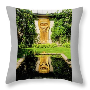 Reflecting Art Throw Pillow by Greg Fortier