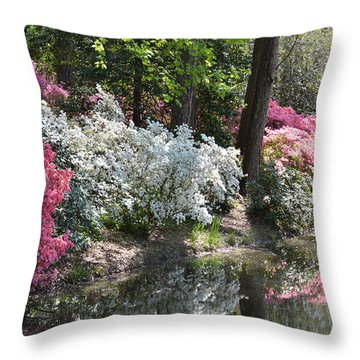 Reflecting Azaleas Throw Pillow
