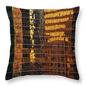 Reflecting Chicago Throw Pillow by Steve Gadomski