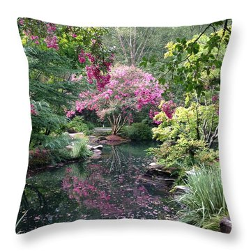 Reflecting Crape-myrtles Throw Pillow