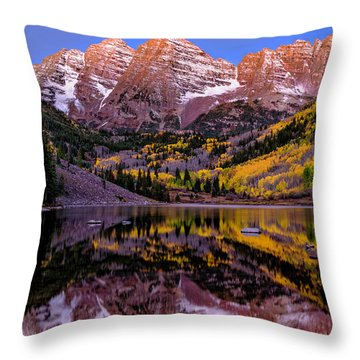 Reflecting Dawn Throw Pillow