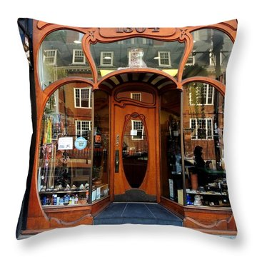 Reflecting On A Cambridge Shoe Shine Throw Pillow