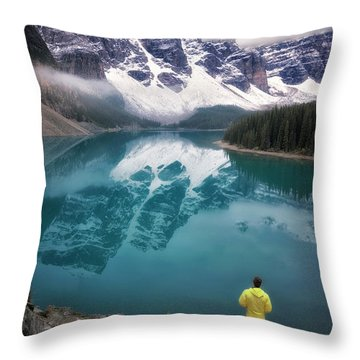 Reflecting On Reflections Throw Pillow by Nicki Frates