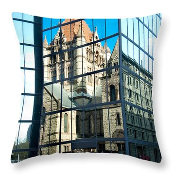 Reflecting On Religion Throw Pillow