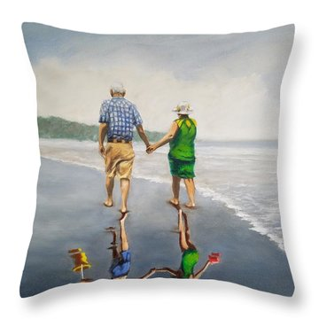 Reflecting Happiness Throw Pillow