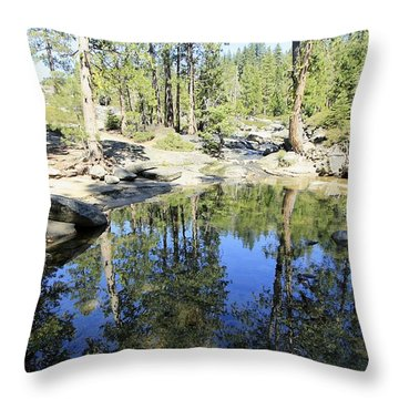 Throw Pillow featuring the photograph Reflecting Pond by Sean Sarsfield