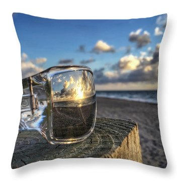 Reflecting Sunglasses Throw Pillow