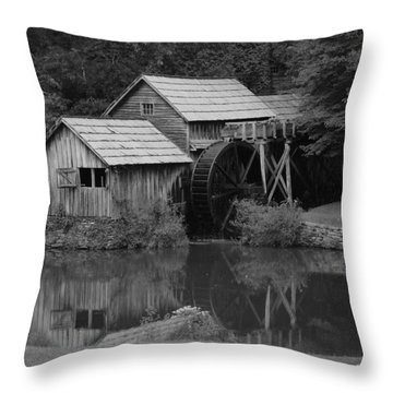 Reflecting The Mill Throw Pillow
