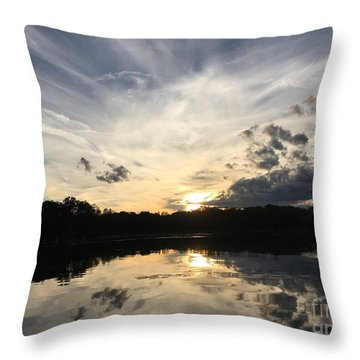 Reflecting Upon The Sky Throw Pillow