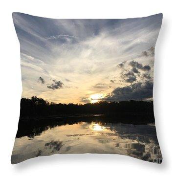 Reflecting Upon The Sky Throw Pillow by Jason Nicholas