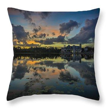 Reflection 7 Throw Pillow by Mina Isaac