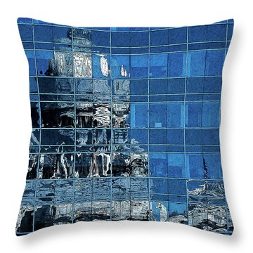 Reflection And Refraction Throw Pillow by Alex Galkin