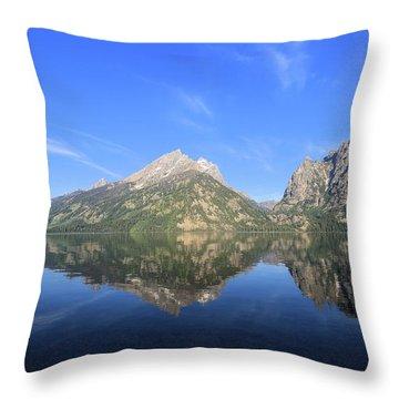 Reflection At Grand Teton National Park Throw Pillow