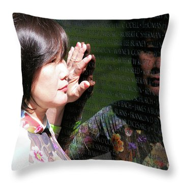 Reflection At The Wall Pt.2 Throw Pillow