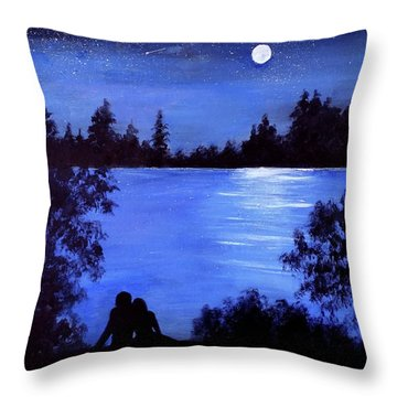 Reflection By The Water Throw Pillow