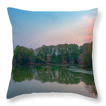 Throw Pillow featuring the photograph Reflection II by David Waldrop