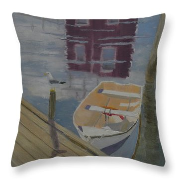 Reflection In Red Throw Pillow