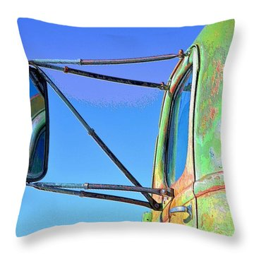 Reflection In The Rear View Mirror Throw Pillow