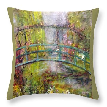 Reflection In Time Throw Pillow by Gail Butters Cohen