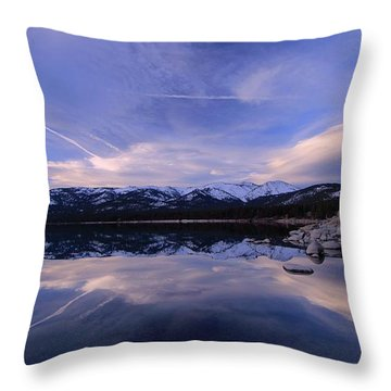 Reflection In Winter Throw Pillow