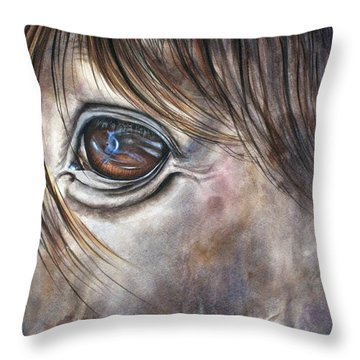 Reflection Of A Painted Pony Throw Pillow
