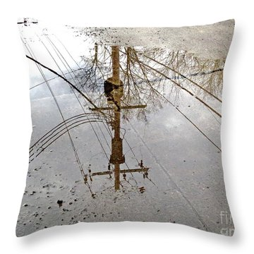 Puddle Reflections  Throw Pillow by Sandra Church