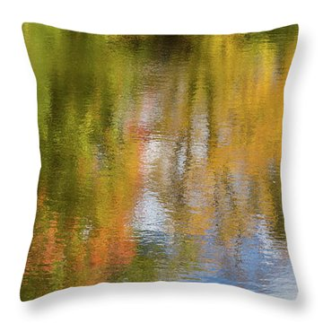 Reflection Of Fall #1, Abstract Throw Pillow