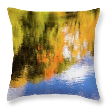 Reflection Of Fall #2, Abstract Throw Pillow