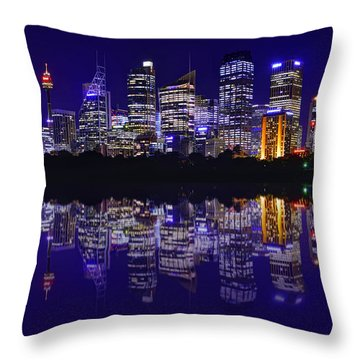 Reflection Of Sydney Throw Pillow