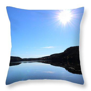 Reflection Of The Lake Throw Pillow