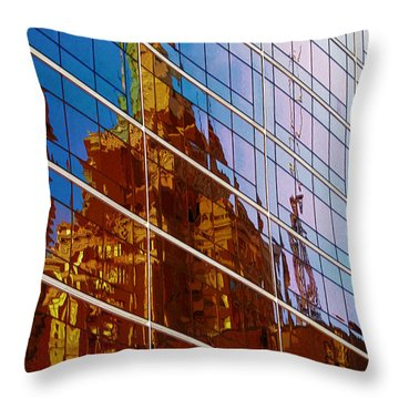 Reflection Of The Past - Tulsa Throw Pillow