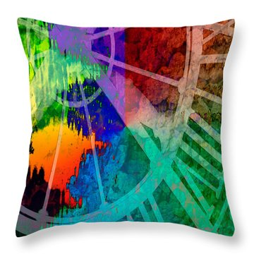 Reflection Of Time Throw Pillow by Brian Roscorla