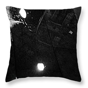 Reflection Of Wet Street Throw Pillow