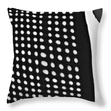 Throw Pillow featuring the photograph Reflection On 42nd Street 1 Grayscale by Sarah Loft