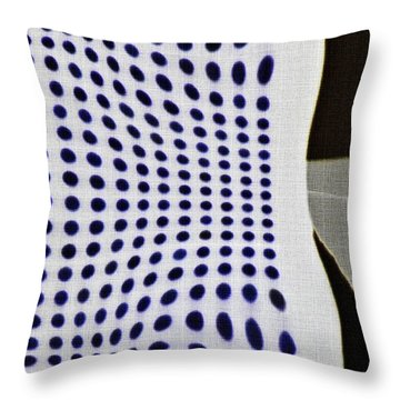 Throw Pillow featuring the photograph Reflection On 42nd Street 2 Negative by Sarah Loft