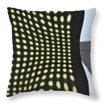 Throw Pillow featuring the photograph Reflection On 42nd Street 2 by Sarah Loft