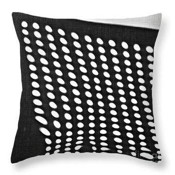 Throw Pillow featuring the photograph Reflection On 42nd Street 3 Grayscale by Sarah Loft