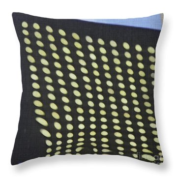 Throw Pillow featuring the photograph Reflection On 42nd Street 3 by Sarah Loft