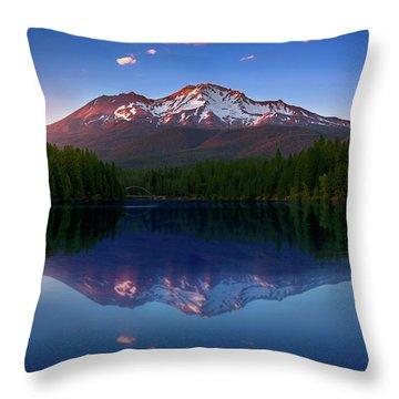 Reflection On California's Lake Siskiyou Throw Pillow