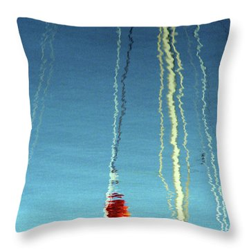 Throw Pillow featuring the photograph Reflection On Water by Emanuel Tanjala