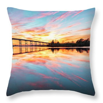 Throw Pillow featuring the photograph Reflection by Russell Pugh