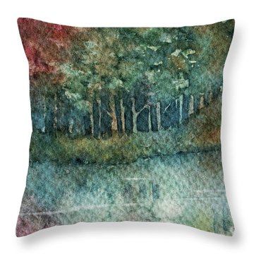Reflections Along The Water Throw Pillow