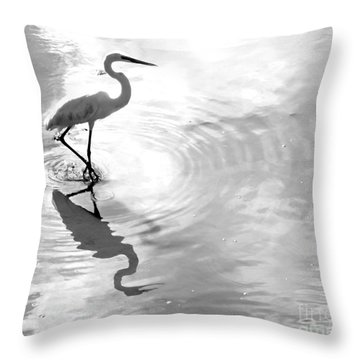 Reflections And Ripples Throw Pillow