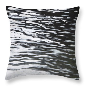 Throw Pillow featuring the painting Reflections by Antonio Romero
