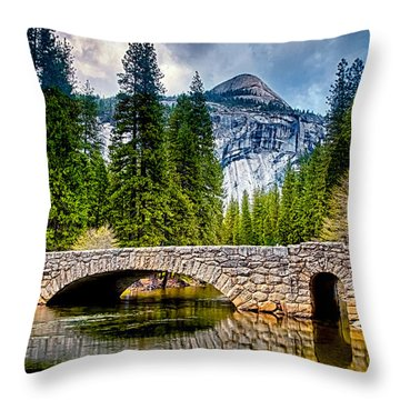 Reflections Throw Pillow by Aron Kearney