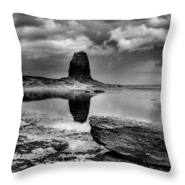 Reflections At Black Nab Throw Pillow
