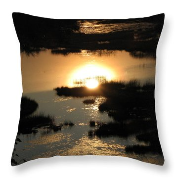 Reflections At Sunset Throw Pillow